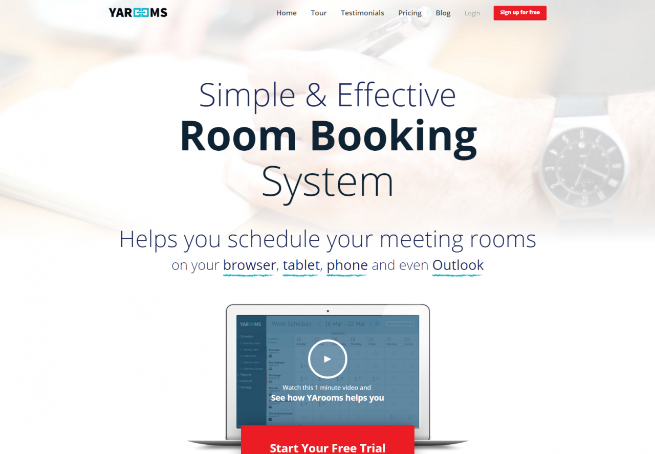 Yarooms - Simple & Effective Room Booking System