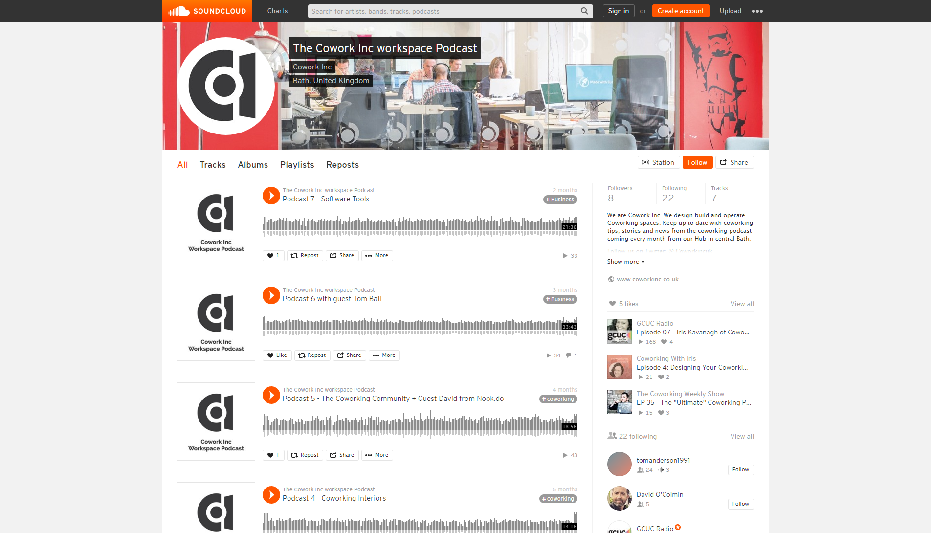 The Cowork Inc workspace Podcast Free Listening on SoundCloud